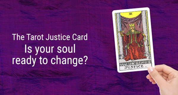The Justice Tarot card for mobile
