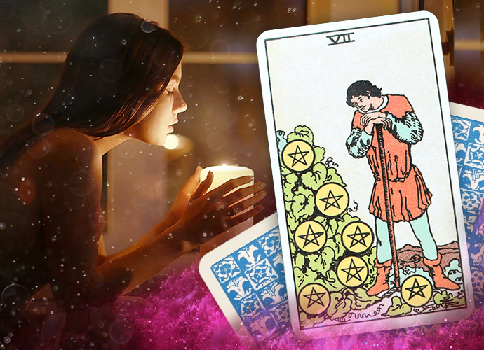 Seven of Pentacles: Upright and Reversed Love Meanings & More