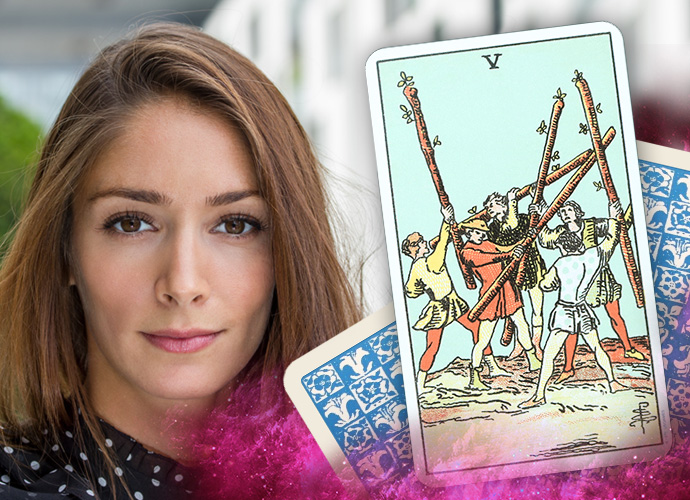 Five of Wands Interpretations Love Life Meaning
