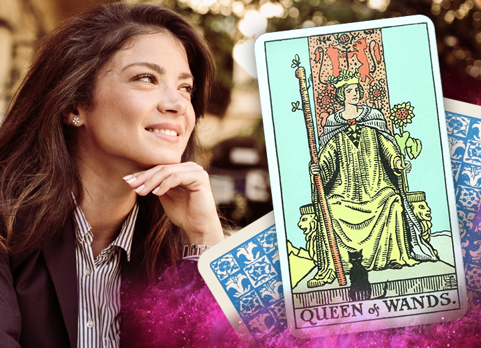 Queen of Wands Tarot Card Reversed Meanings and love insights