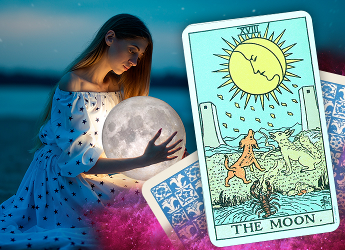 The Moon Tarot Card