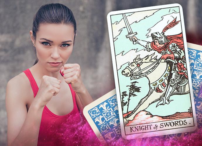 Knight of Swords tarot card